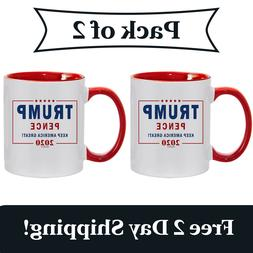 2 Pack - Trump Pence Keep America Great! 2020 Red Handle Cer