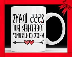 7th Anniversary Coffee Mug - 2555 Days Together But Who's Co