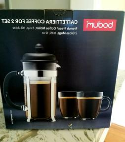 Bodum 8 Cup - Caffettiera Coffee Set for 2 French Press with