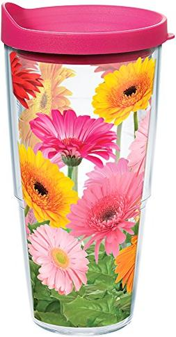 Tervis 1076395 Gerbera Daisies Tumbler with Wrap and Fuchsia
