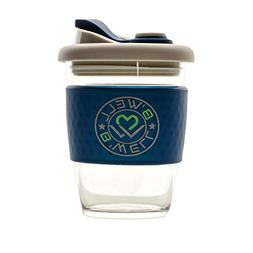 New Arrival B'WELL 12 oz - Reusable Coffee Cup - Glass Tra