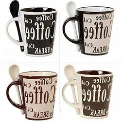 Mr Coffee 8 Piece Bareggio Mug and Spoon Set NA Black/White