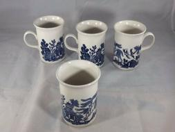 Blue Willow 10 oz. Coffee Mugs - Set of 4 MADE IN ENGLAND
