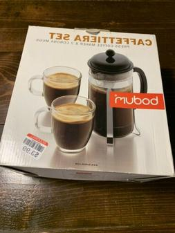Bodum - Caffettiera Coffee Set for 2 French Press 8 Cup with