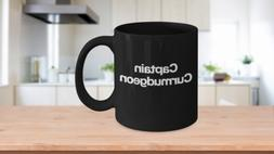 Captain Curmudgeon Mug Black Coffee Cup Funny Gift for Grand