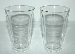 Bodum Double Wall Hand Blown Insulated Drinking Glasses  Hot