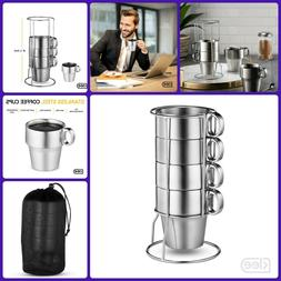 Double Wall Stainless Steel Coffee Cup Insulated Mug With Ha