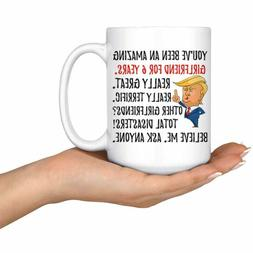 Funny Awesome Girlfriend For 6 Years Coffee Mug, 6th Anniver