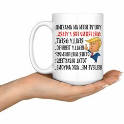Funny Awesome Girlfriend For 7 Years Coffee Mug 7th Annivers