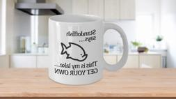 Funny Introvert Mug Coffee Cup Gift for Grumpy Laker Self Is