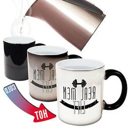 Funny Mugs - Real Men Lift - Gym Work Out Sports Train Magic