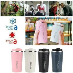 Insulated Coffee Mug Cup Travel Thermal Stainless Steel Flas