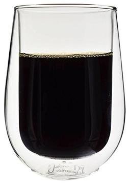 Insulated Glasses for Coffee or Tea, Set of 2 from JavaFly,