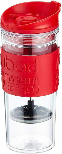 Bodum Insulated Plastic Travel French Press Coffee and Tea M