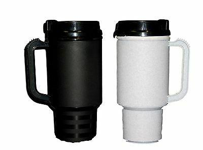 2 coffee cup travel mugs air insulated