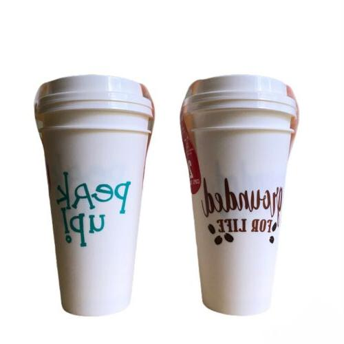 4pk Reusable Travel Coffee Cups With Dishwasher Microwave Safe BPA