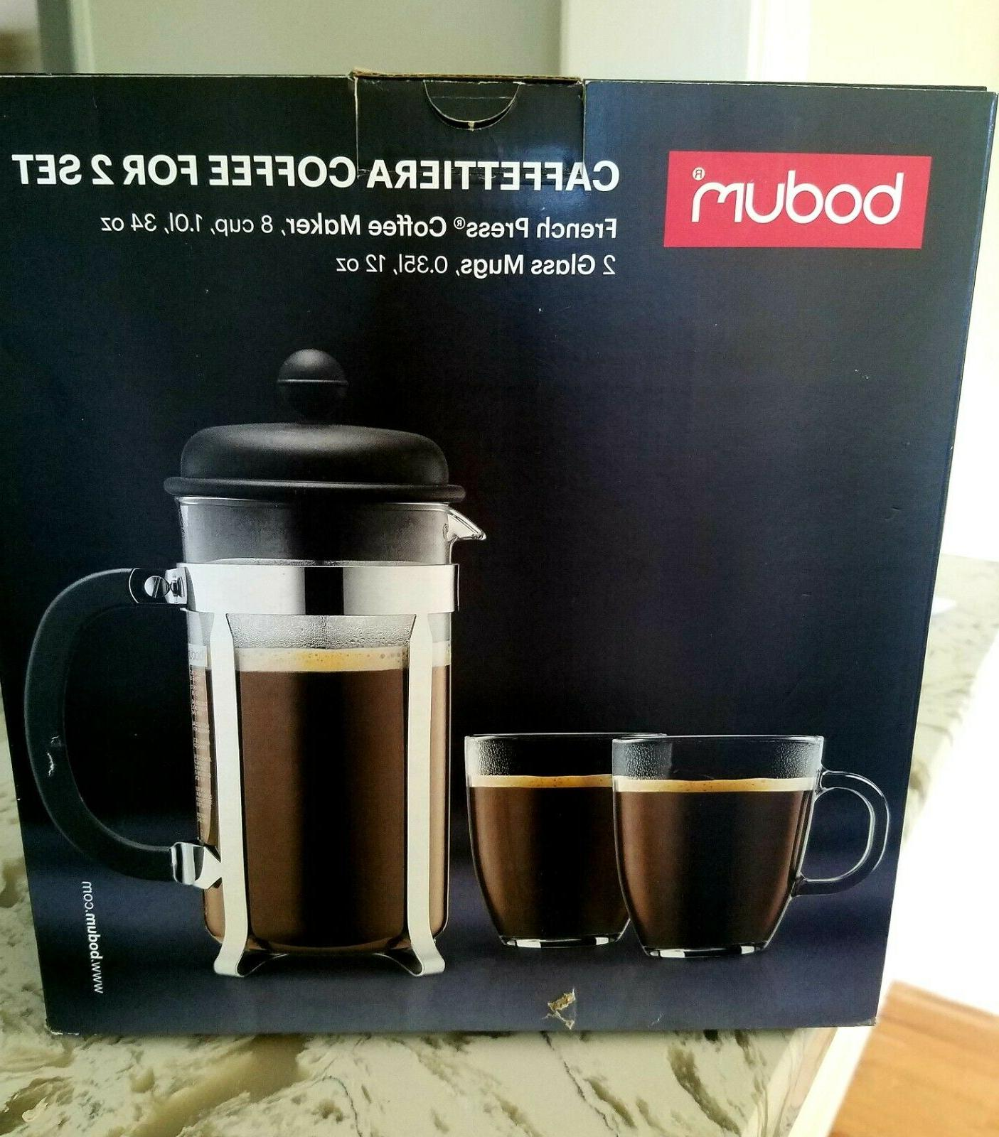 8 cup caffettiera coffee set for 2