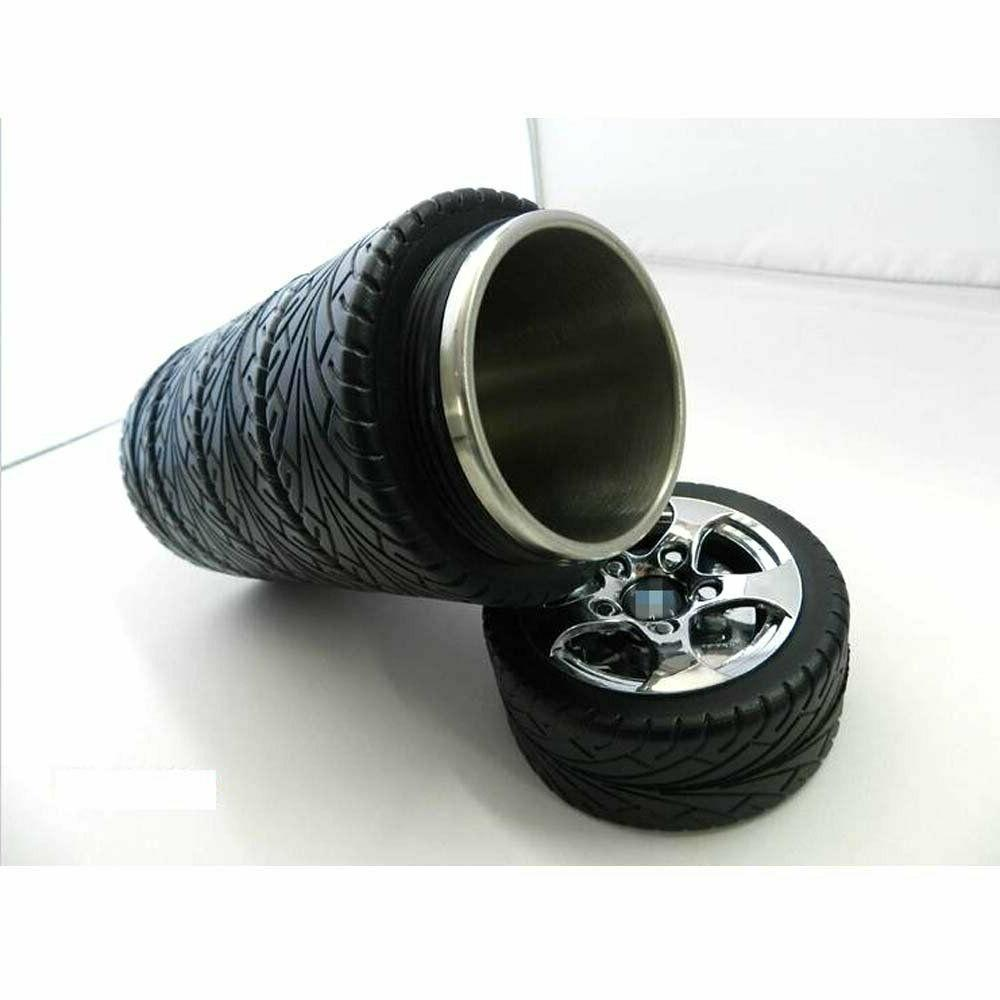 car tire coffee mug stainless steel rubber