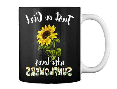 casual just a girl who loves sunflowers