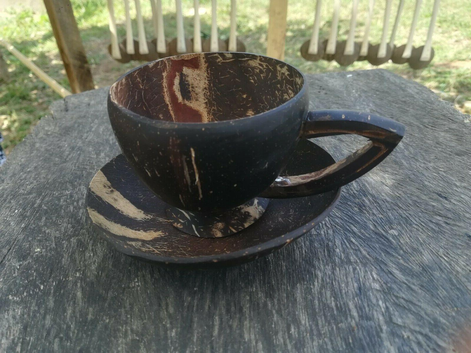 Handmade coconut shell Coffee with sauce eco friendly product