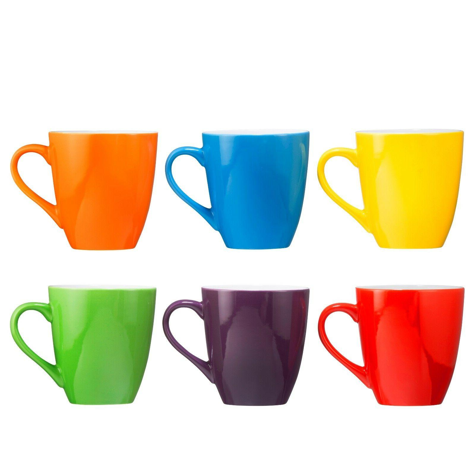 of Large-sized 16 Ounce Ceramic Multi-Color