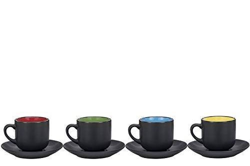 Espresso Cups Saucers by ounce Exterior, Solid Color