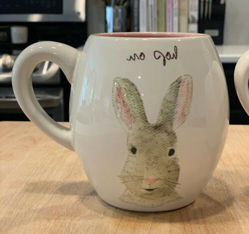 Rae Dunn ON & HAPPY EASTER Coffee Mugs - Spring