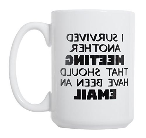 I Survived Meeting That Have An Email Deluxe Mug