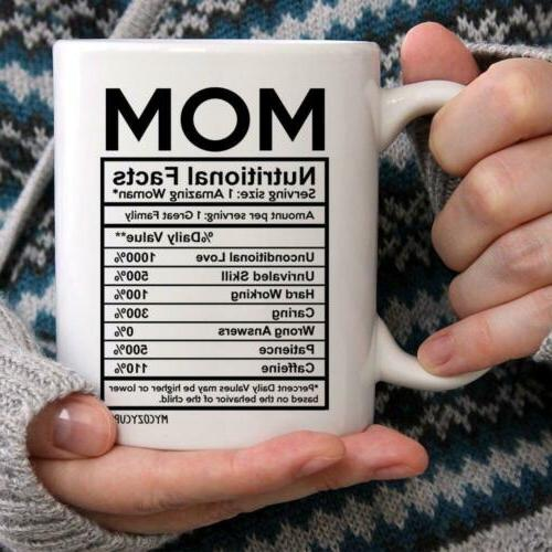 MyCozyCups Mom Facts Coffee New Novelty