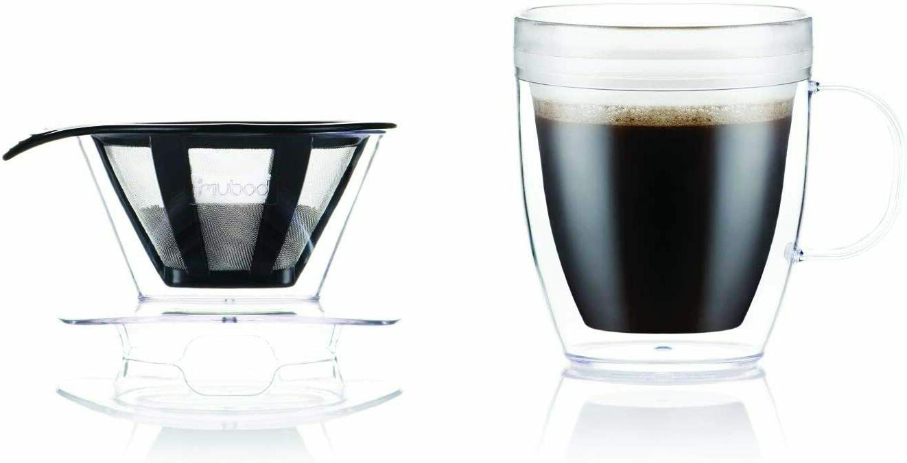 Bodum Over Coffee Dripper Wall and Filter, 12