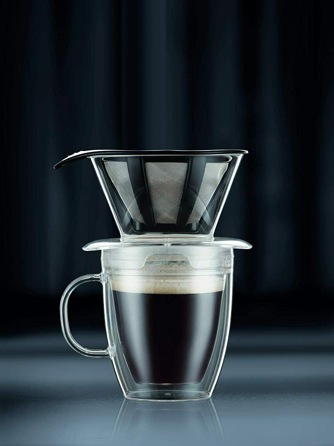 Bodum Coffee Dripper With Double Wall and Permanent Filter, 12