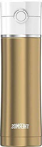 Thermos 16 oz Sip Stainless Steel Drink Bottle, Gold