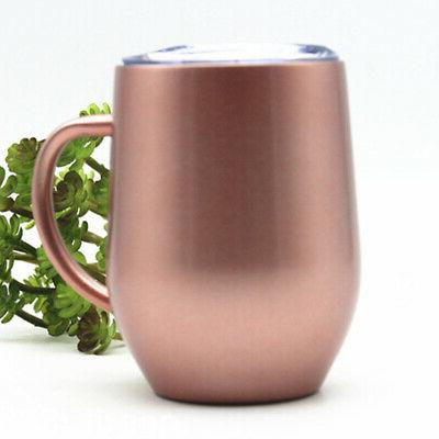 Double Wall Coffee Mug Cup Insulated Tea Tumbler  Stainless