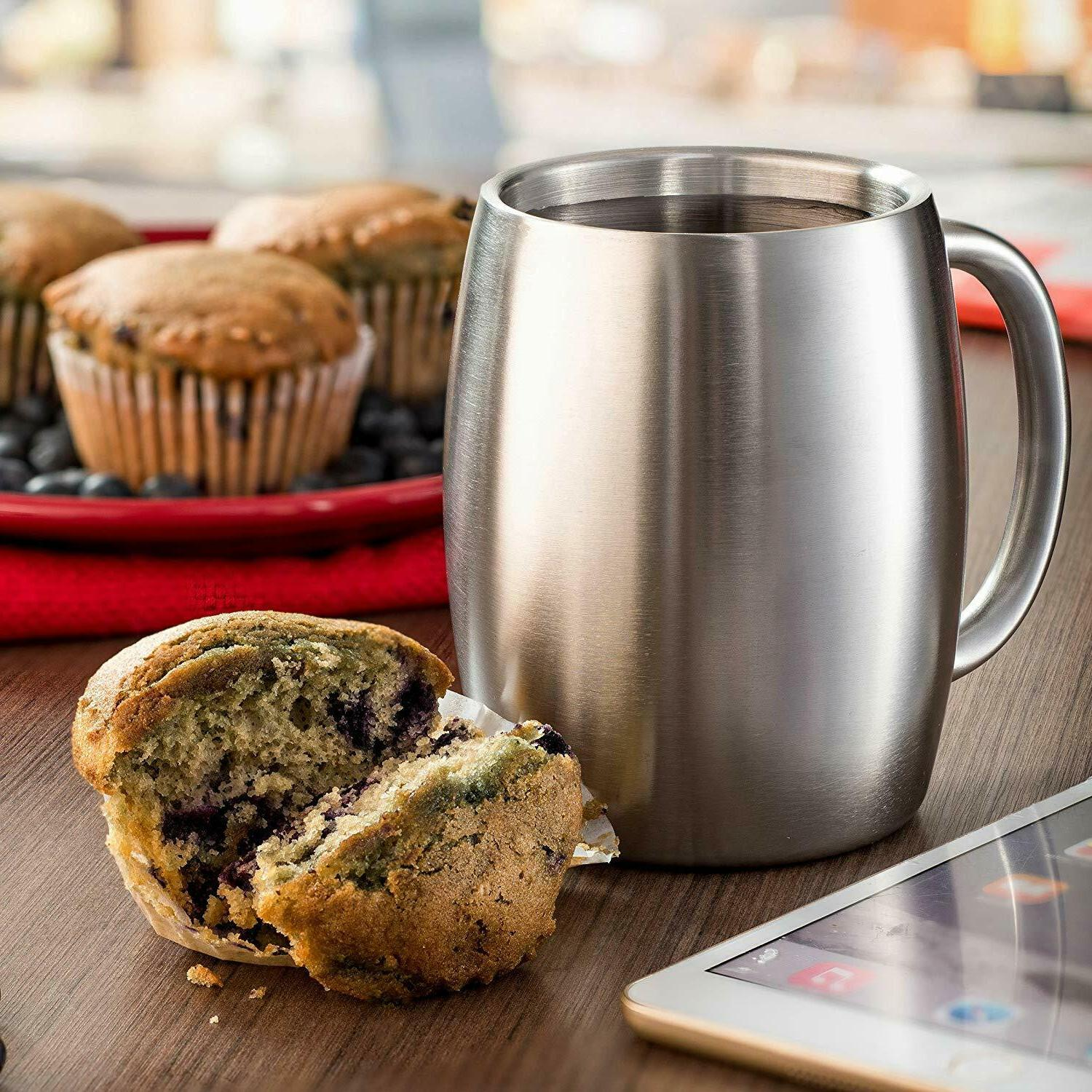 Stainless Mugs with Lids BPA Free - oz