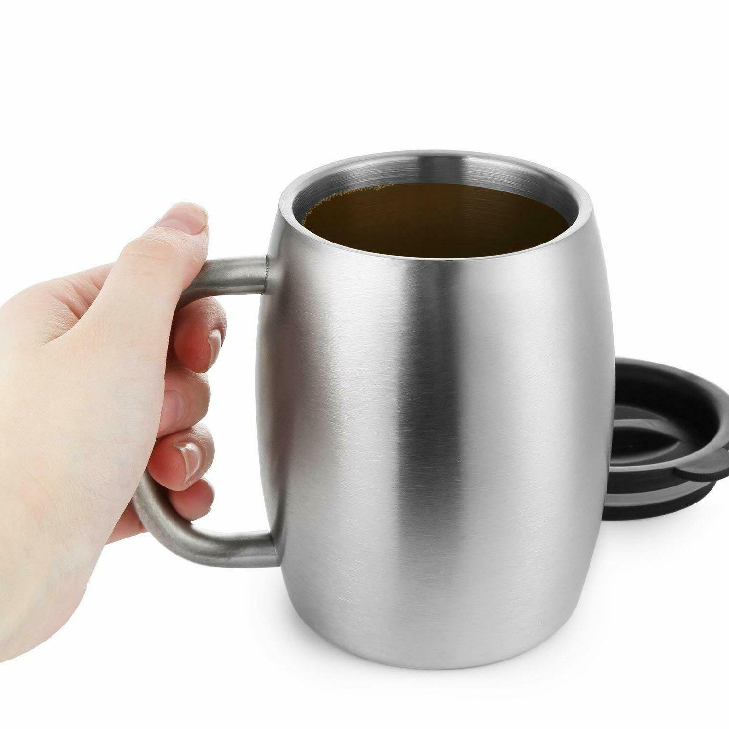 Stainless Steel with Resistant Lids, 14 Oz Insul