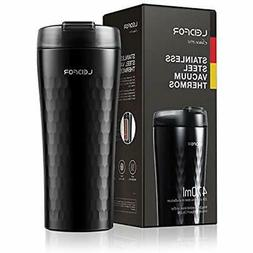 Leidfor Coffee Travel Mug Tumbler Doulbe Wall Vacuum Insulat