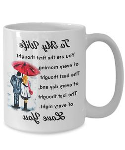 My Wife I Love You Coffee Mugs From Husband - Great Gift For