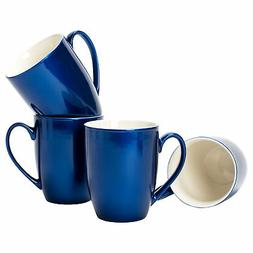 Navy Blue Glossy Finish 10 ounce New Bone China Coffee Cup M