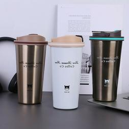 New 500ml Stainless Steel Coffee Cup with Handle Insulated T
