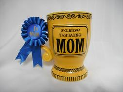 """NEW """"World's Greatest MOM"""" Large Trophy-style Coffee Mug fro"""