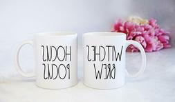 Rae Dunn Inspired Hocus Pocus And Witches Brew Mug Set - Hal