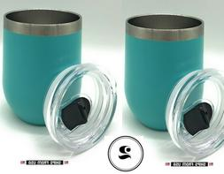 SET OF 2 Insulated Stainless Steel Tumbler With Lid 12OZ Dou
