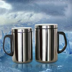 Stainless Steel Coffee Cup With Handle Insulated Thermos Tra