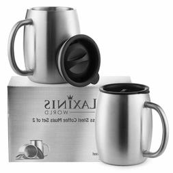 stainless steel coffee mugs with spill resistant
