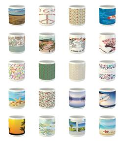 Ambesonne Summer Time Ceramic Coffee Mug Cup for Water Tea D