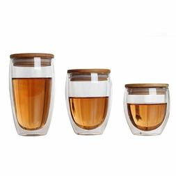 Transparent Glass Tea Cup Double Wall Insulation Coffee Milk