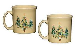 Fiesta Ware Christmas Trio Trees Holiday SET of 2 Java Coffe